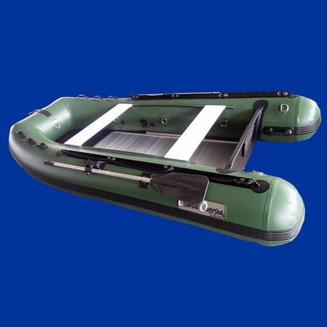 Bateau pneumatique Charles Oversea vert 30ca+ de destockage