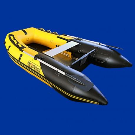Bateau pneumatique jaune et noir Lemarius Mistral 270 fond alu